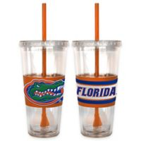 University of Florida Double Wall Hype 22 oz. Tumbler with Lid & Straw