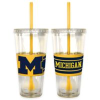 University of Michigan Double Wall Hype 22 oz. Tumbler with Lid & Straw