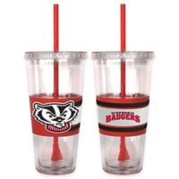 University of Wisconsin Double Wall Hype 22 oz. Tumbler with Lid & Straw