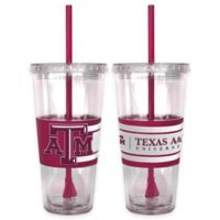 Texas A&M University Double Wall Hype 22 oz. Tumbler with Lid & Straw