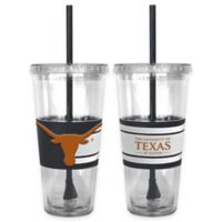 University of Texas Double Wall Hype 22 oz. Tumbler with Lid & Straw