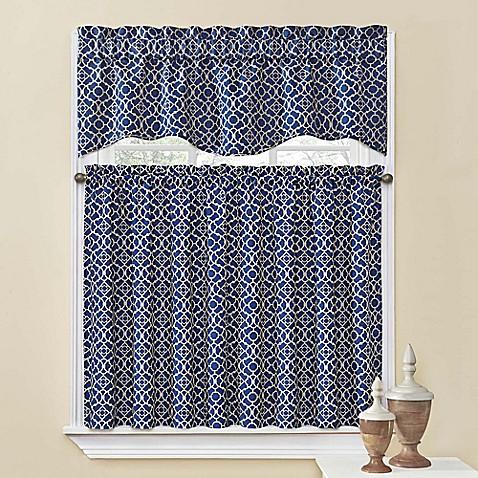 Waverly lovely lattice kitchen window curtain tiers and valance bed bath beyond - Waverly kitchen curtains ...