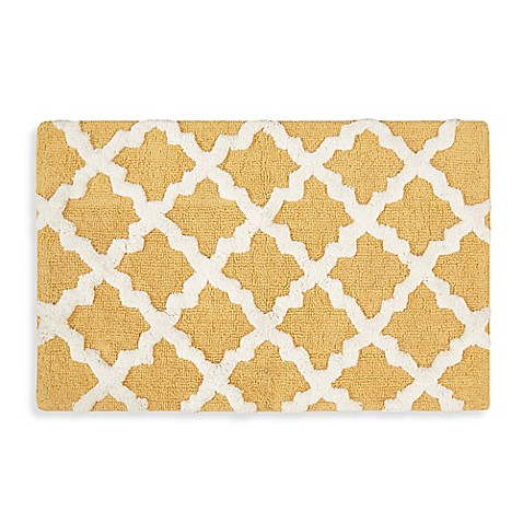 Awesome Piece Moroccan Trellis 100percent Cotton Bath Rug Set  Free