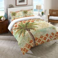 Laural Home® Spice Palm Queen Comforter in Orange