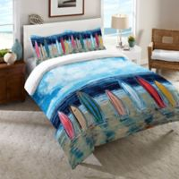 Laural Home® Surfboards Twin Comforter in Blue