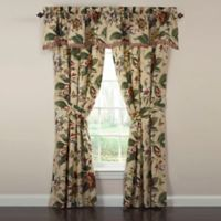 Waverly® Laurel Springs Rod Pocket Lined Valance in Parchment