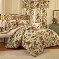 Waverly® Laurel Springs Reversible King Comforter Set in Parchment