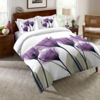Laural Home® Lavender Hope Twin Comforter in Purple