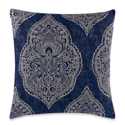 Burgess Blue Square Throw Pillow - Bed Bath & Beyond