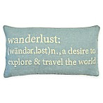Wanderlust Chain Stitch Throw Pillow in Seafoam
