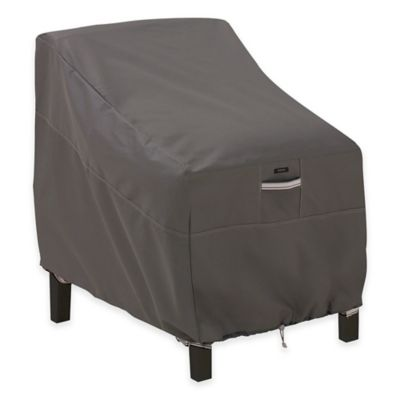 classic accessories ravenna deep loungeclub chair outdoor furniture cover in taupe black furniture covers