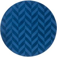 Artistic Weavers Central Park Carrie 6-Foot Round Area Rug in Navy