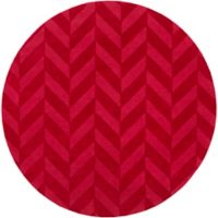 Artistic Weavers Central Park Carrie 6-Foot Round Area Rug in Red