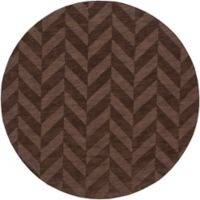 Artistic Weavers Central Park Carrie 6-Foot Round Area Rug in Brown