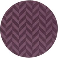 Artistic Weavers Central Park Carrie 7-Foot 9-Inch Round Area Rug in Purple