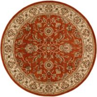 Artistic Weavers Middleton Charlotte 8-Foot Round Area Rug in Red/Beige