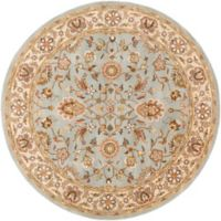 Artistic Weavers Middleton Charlotte 8-Foot Round Area Rug in Light Blue/Gold