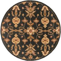 Artistic Weavers Middleton Grace 6-Foot Round Area Rug in Black