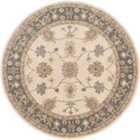 Artistic Weavers Middleton Willow 3-Foot 6-Inch Round Area Rug in Grey/Ivory