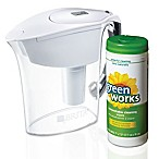 Brita® Amalfi Pitcher and 30-Count GreenWorks® Wipes Value Pack