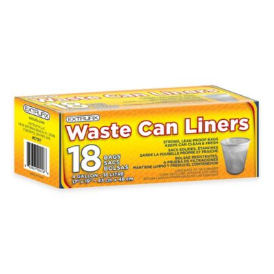 4 Gallon 18-Count Waste Can Liners