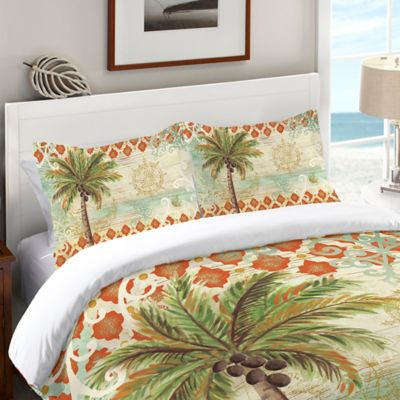 Laural Home® Spice Palm Standard Pillow Sham In Orange