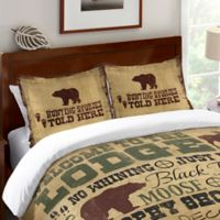 Laural Home® Welcome to the Lodge Standard Pillow Sham in Brown