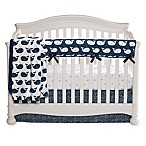 Liz and Roo Nautical Whales 3-Piece Crib Bedding Set