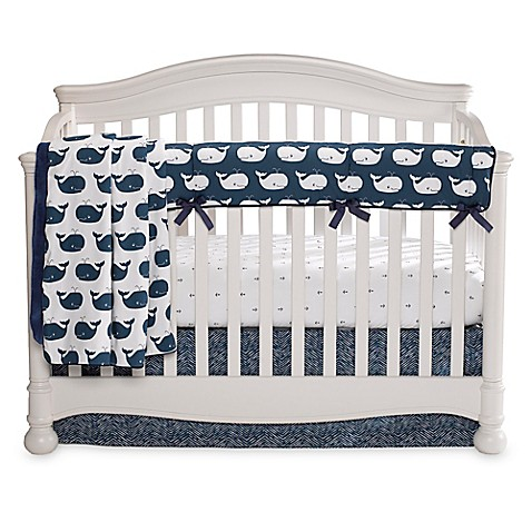 3-Piece Navy Crib Bedding Set