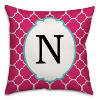 Quatrefoil 16-Inch Square Throw Pillow in Pink