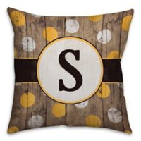 Polka Dot 18-Inch Square Throw Pillow