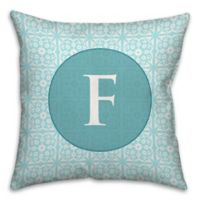 Medallion Tile 18-Inch Square Throw Pillow in Blue/White