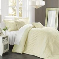 Chic Home Claire 5-Piece Queen Comforter Set in Beige