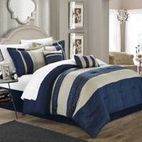 Chic Home Coralie 6-Piece Queen Comforter Set in Navy