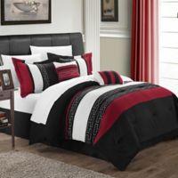 Chic Home Coralie 10-Piece Queen Comforter Set in Black