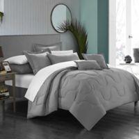 Chic Home Dinarelle 11-Piece Queen Comforter Set in Silver