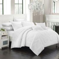 Chic Home Dinarelle 11-Piece Queen Comforter Set in White