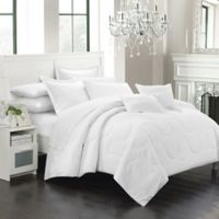 Chic Home Dinarelle 5-Piece Twin Comforter Set in White