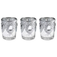 Lillian Rose™ Heart Candle Holders in Silver (Set of 3)