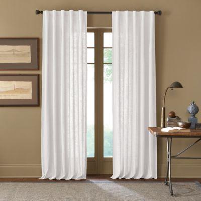 Wonderful Cambria® Malta 95 Inch Rod Pocket/Back Tab Window Curtain Panel In White