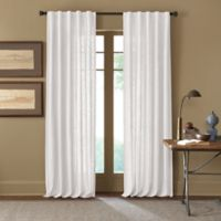 Cambria® Malta 95-Inch Rod Pocket/Back Tab Window Curtain Panel in White