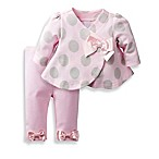 David Tutera™ Size 0-3M Sophie Dot Swing Jacket and Legging Set Pink/Grey