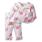David Tutera™ Size 0-3M Sweet Rose Swing Jacket and Legging Set in Pink