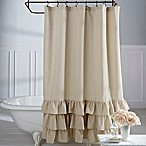 Veratex Vintage Ruffle 72-Inch x 72-Inch  Shower Curtain
