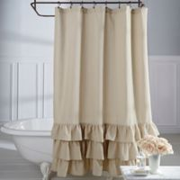 Veratex Vintage Ruffle 72-Inch x 84-Inch Shower Curtain