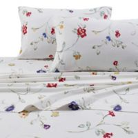 Tribeca Living 170 GSM Print Flannel Deep Pocket Twin XL Sheet Set in White/Red