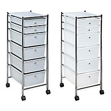 Superb 6 Drawer Plastic Rolling Storage Cart
