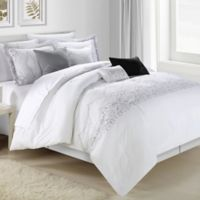 Chic Home Gracia 8-Piece King Comforter Set in White