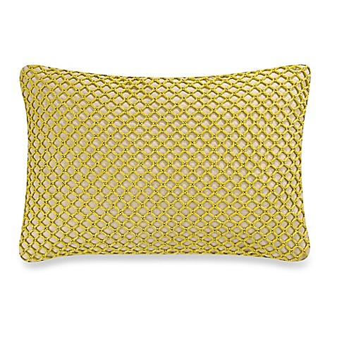Green Rectangle Throw Pillow : Cersei Beads Rectangle Throw Pillow in Green - Bed Bath & Beyond