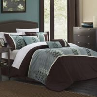 Chic Home Evasco 8-Piece Queen Comforter Set in Brown